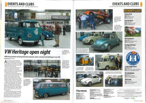 Frank at VW Heritage, VolksWorld Magazine, September 2014